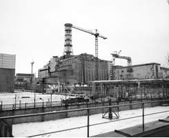 CHERNOBYL, UKRAINE - JANUARY 2006: On 26th April, 1986, at ...