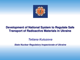 PPT - Development of National System to Regulate Safe ...