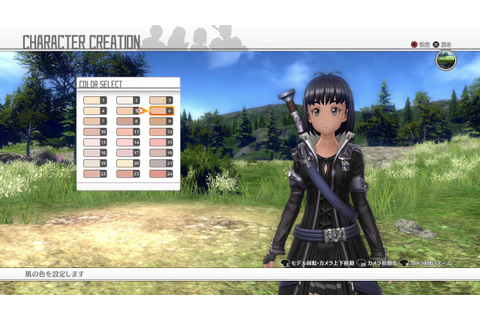 Sword Art Online: Hollow Realization - Character ...