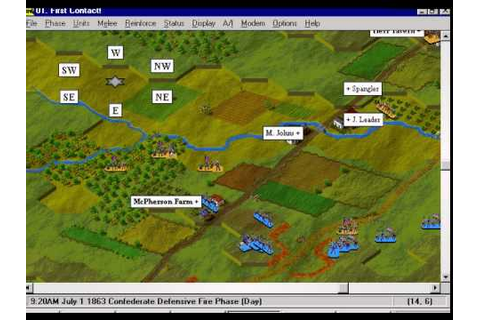 IE 21 PC games review - Battleground Gettysburg (1995 ...