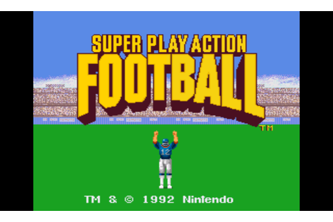 Super Play Action Football (USA) ROM