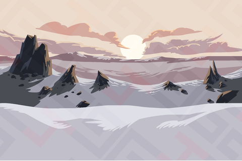 Snow mountains parallax background ~ Graphics ~ Creative ...