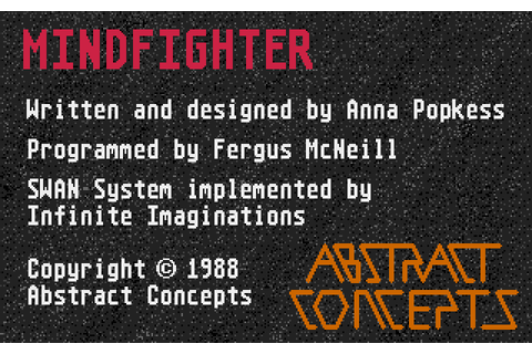Mindfighter (1988) by Abstract Concepts Amiga game