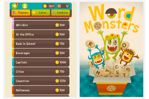 Word Monsters – a new word puzzle game free on Google Play ...
