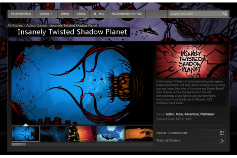 Shadow Planet Productions Blog: Insanely Twisted Shadow ...