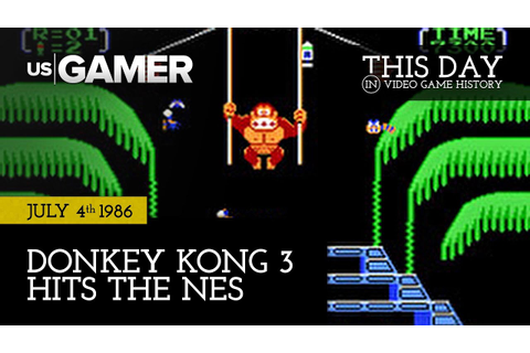 This Day in Video Game History | July 4*: Donkey Kong 3 ...