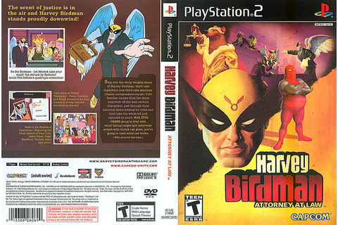 """Harvey Birdman: Attorney at Law"" : THE GAME // PS2 cover ..."
