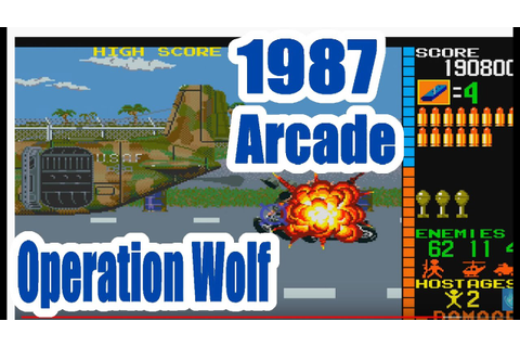 1987 Operation Wolf Arcade Old School Game Playthrough ...