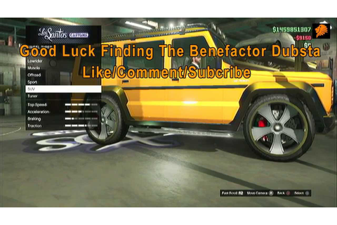 GTA Online Benefactor Dubsta Location - YouTube