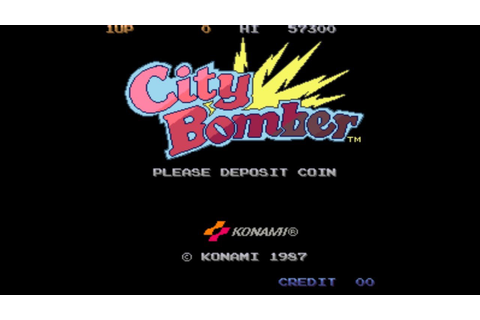 City Bomber 1987 Konami Mame Retro Arcade Games - YouTube