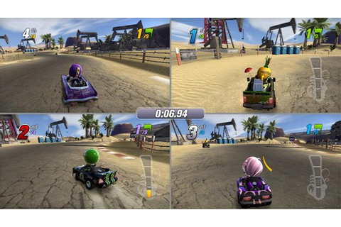 Four-player split screen: ModNation Racers has it!