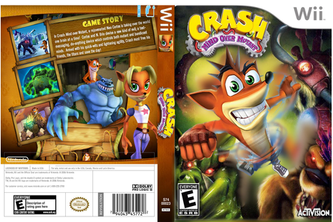 Games Covers: Crash - Mind Over Mutant - Wii