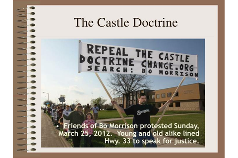 "PPT - Stand your Ground The ""Castle Doctrine"", Mrs. Dubose ..."