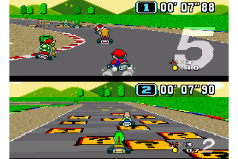 Super Mario Kart (SNES / Super Nintendo) Screenshots