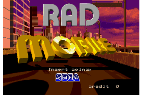Rad Mobile (1991) Arcade game