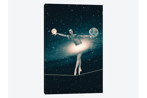 The Cosmic Game Of Balance Canvas Art by Paula Belle ...