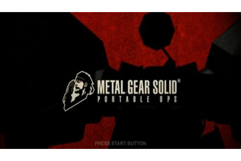 Metal Gear Solid Portable Ops PSP ISO - Game Full Collection