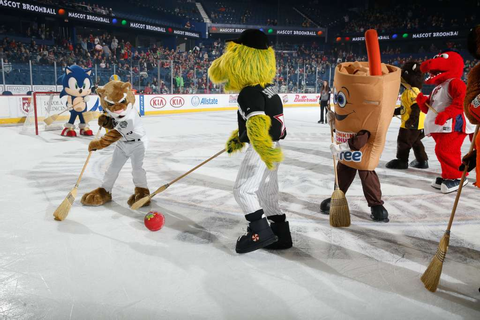 Gallery: Mascot Broomball - Chicago Wolves