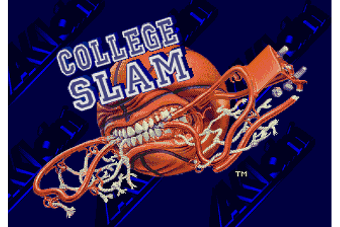 College Slam (1996) by Iguana Entertainment Mega Drive game