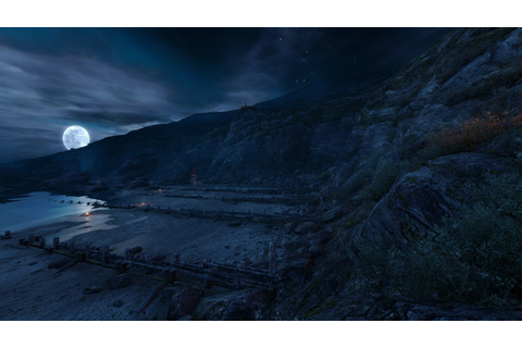 Dear esther moon landscapes night video games wallpaper ...