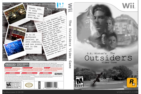 S.E. Hinton's The Outsiders Video Game Wii Box Art Cover ...