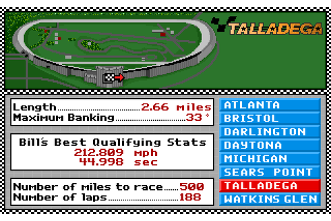 Bill Elliott's NASCAR Challenge Download - Old Games Download