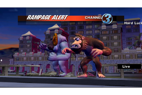 Rampage: Total Destruction Gamecube 2 player Netplay 60fps ...