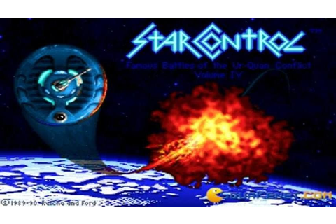 Star Control 1 gameplay (PC Game, 1990) - YouTube