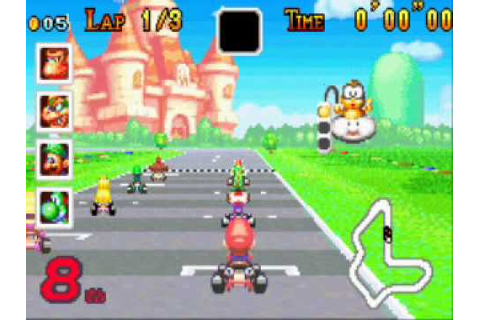 Game Boy Advance - Super Mario Kart - YouTube