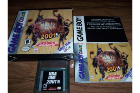 Nba Jam 2001 Tu Game Boy Color - $ 150.00 en Mercado Libre