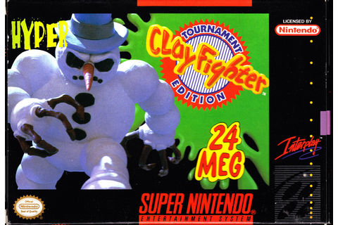 Clay Fighter Tournament Edition SNES Super Nintendo