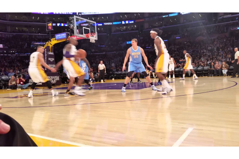 Lakers courtside - YouTube