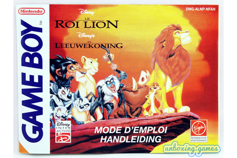 Le Roi Lion [FAH] Game Boy (1997) – Unboxing.games