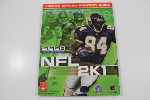 NFL 2k1 Official Strategy Guide - Prima Games