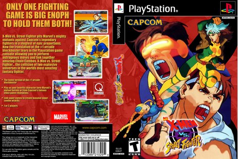 X-Men Vs Street Fighter - PS1 - Capas Covers - Capas De ...