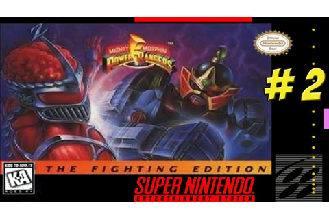 SNES: Mighty Morphin Power Rangers! The Fighting Edition ...