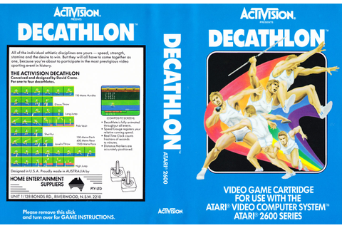 Atari 2600 VCS Activision Decathlon (The) : scans, dump ...