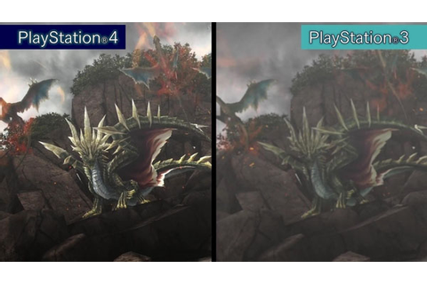 Monster Hunter Frontier Z PS4 vs. PS3 comparison trailer ...