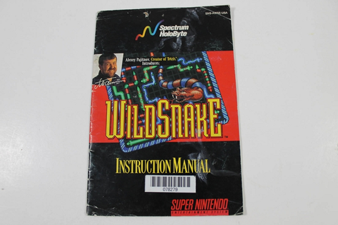 Manual - Wildsnake Wild Snake - Snes Super Nintendo