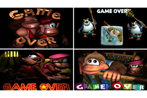 Evolution of Game Over Screens in Donkey Kong Country ...