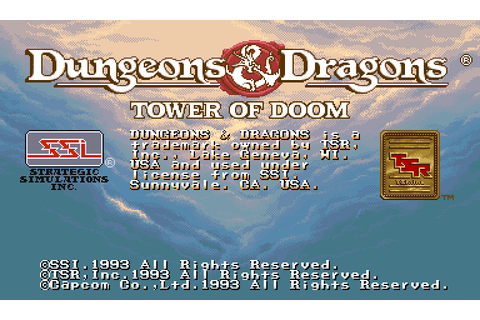 Dungeons & Dragons: Tower of Doom (1993) Arcade game