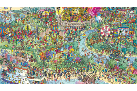 "Find Daft Punk in This ""Where's Waldo"" Style Festival Map ..."