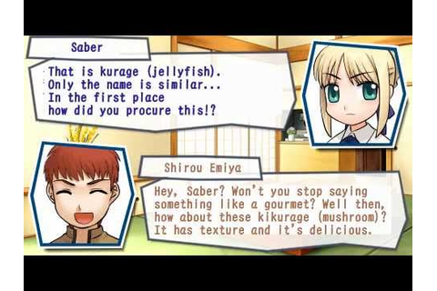 Fate/Tiger Colosseum - Saber Route - Part 1/2 - PSP ...