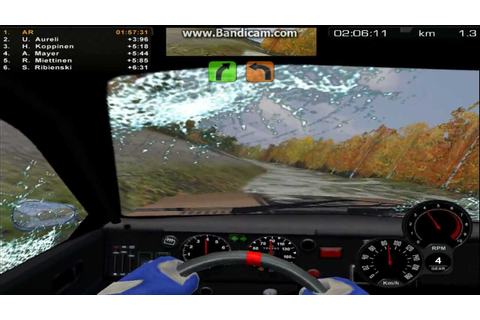 Rally Trophy (Finnish racing game) Record test - YouTube
