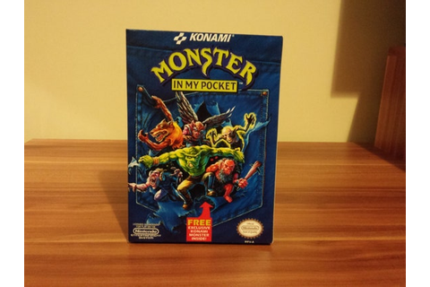 NES Monsters in my Pocket USA Repro Box NO Game Included