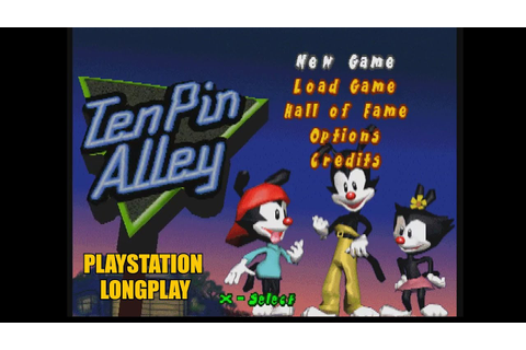 Animaniacs: Ten Pin Alley | Playstation Longplay - YouTube