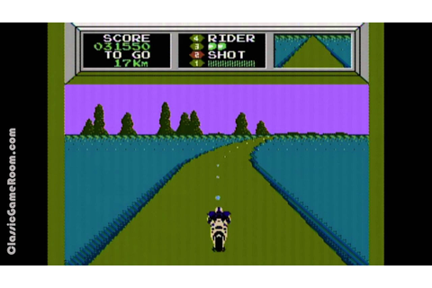Classic Game Room - MACH RIDER review for NES - YouTube
