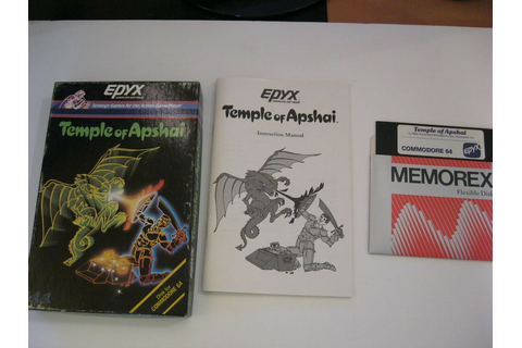 TEMPLE OF APSHAI COMMODORE C64 GAME STATERGY GAME EPYX ...