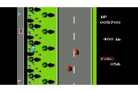 Road Fighter NES - YouTube