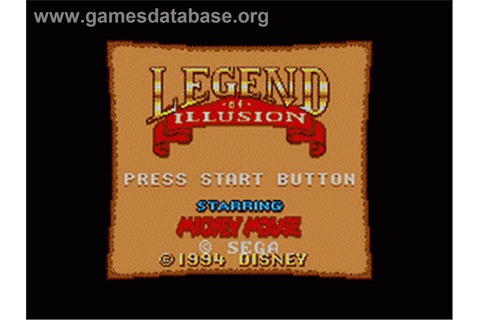 Legend of Illusion starring Mickey Mouse - Sega Game Gear ...